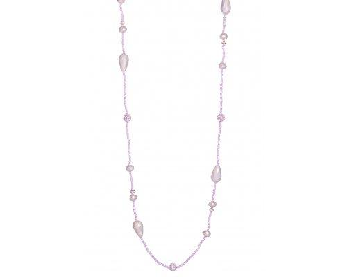 Halskette mit Lila Perlen