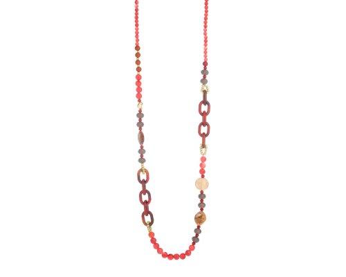 Rote Halskette