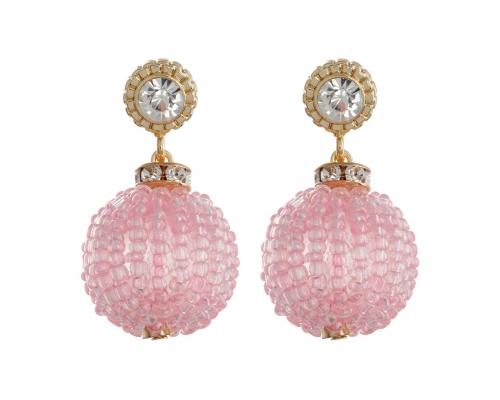 Ohrhänger - Pink Disco Ball