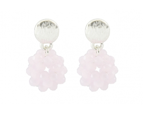 Ohrhänger mit Glassteinen in pink
