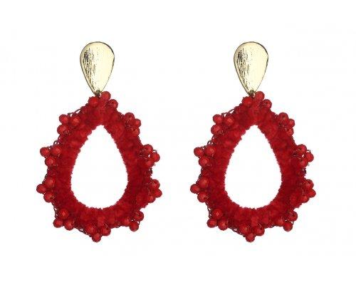 Rote Samt Ohrringe