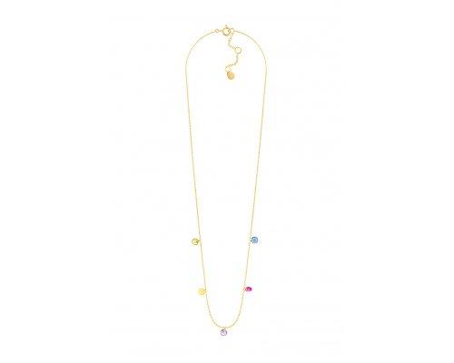 Halskette -  Color Drops Gold                        Halskette -  Color Drops Gold