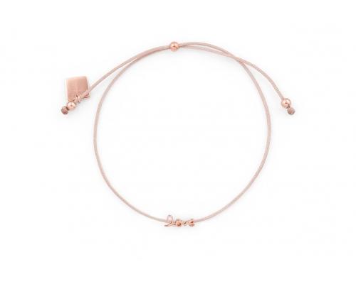 """Armband mit """"Love"""" Schriftzug aus Rosé platiniertem Silber"""