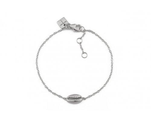 Silber Armband mit Kauri Muschel