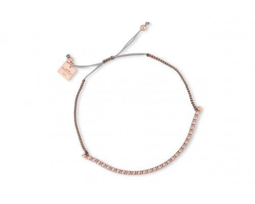 Silberarmband in rosegold und grau
