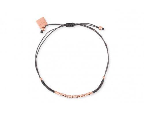 Dunkelgraues Armband mit rosegoldfarbenen Details