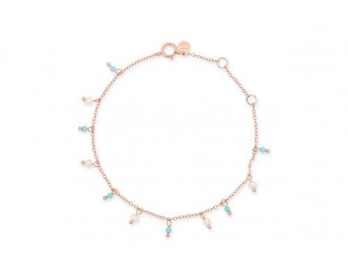 Sterling Silber Armband mit kleinen Perlen