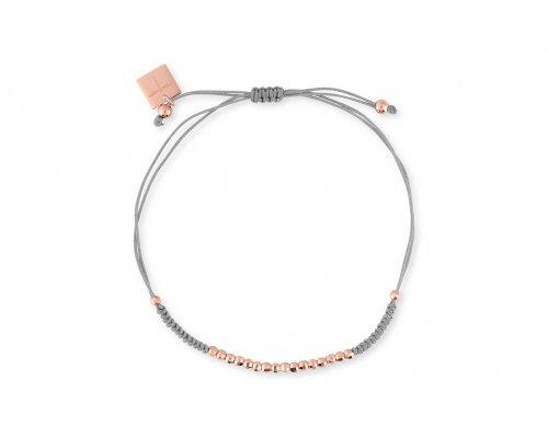 Hellgraues Armband mit rosegoldfarebenen Details
