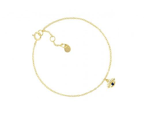 Goldfarbenes Armband mit Anhänger Auge