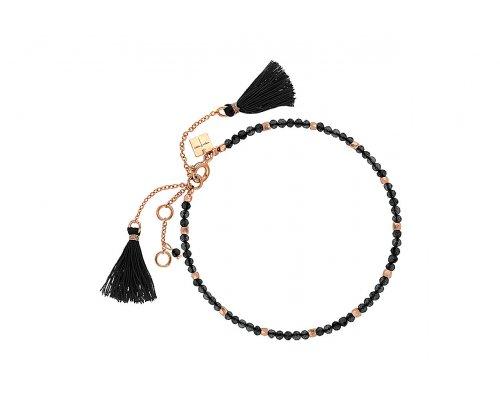 Armband in Schwarz mit rosegoldfarbenen Details