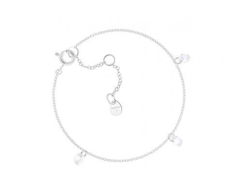 Armband - Glas Drops Bracelet Silver