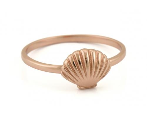 Ring in rosegoldener Farbe mit Muschel