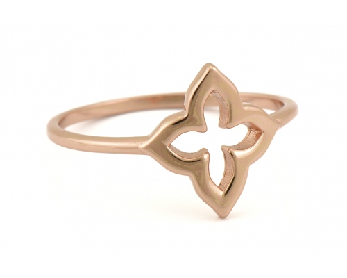 Rosegoldfarbener Ring mit Blüten