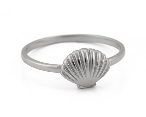 Feiner Ring in Silber mit Muschel