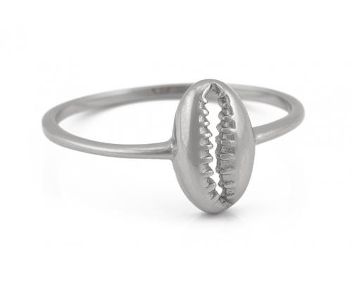 Ring in Silber mit Kaurimuschel