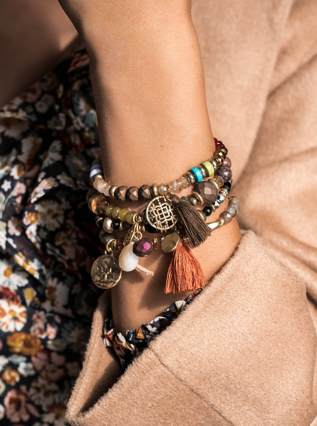 Armband - Colorful Brown