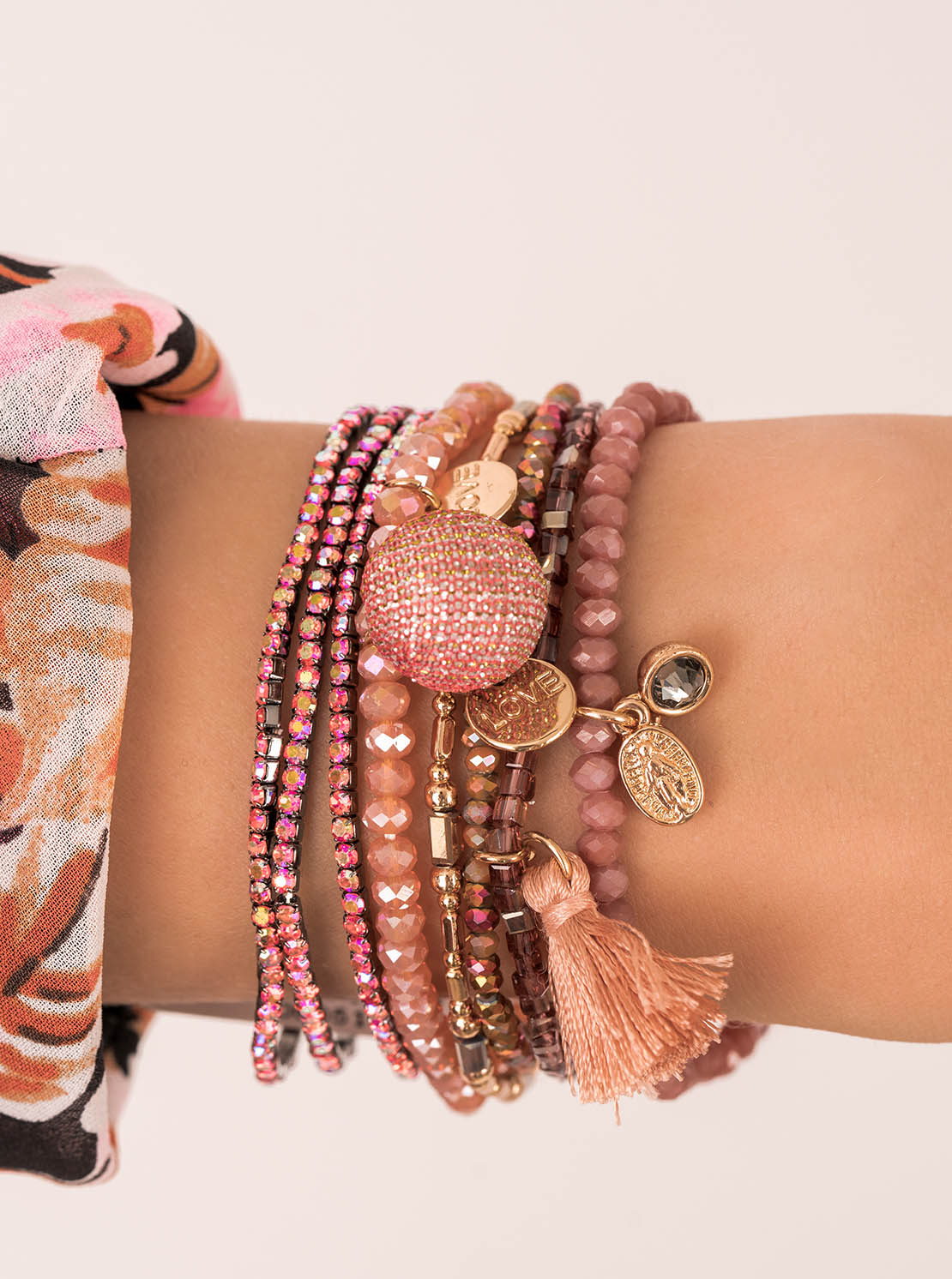 "Armband ""Pompon"" - Orange"