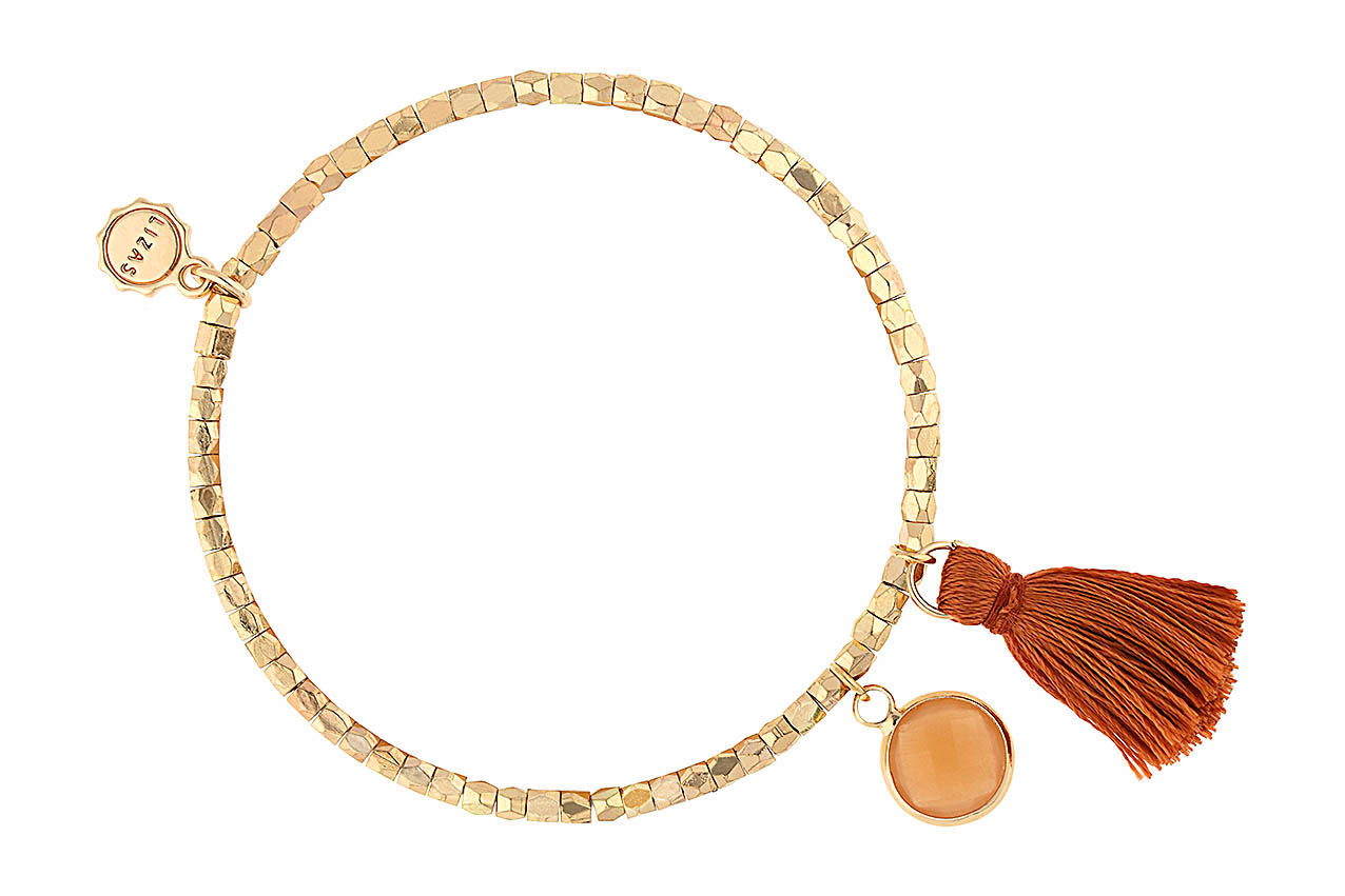 Armband - Maroon Gold
