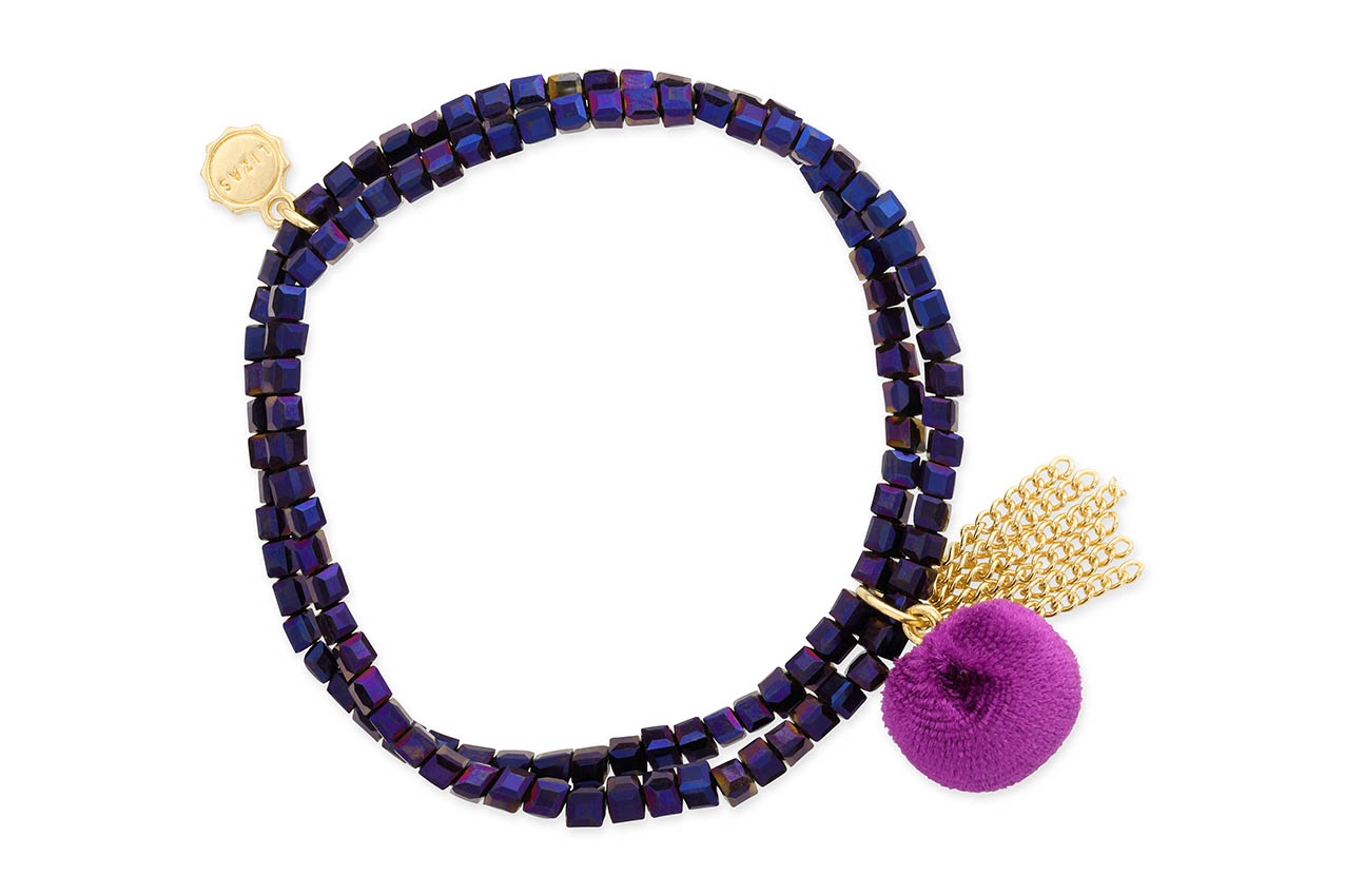 Armband - Purple Bobble