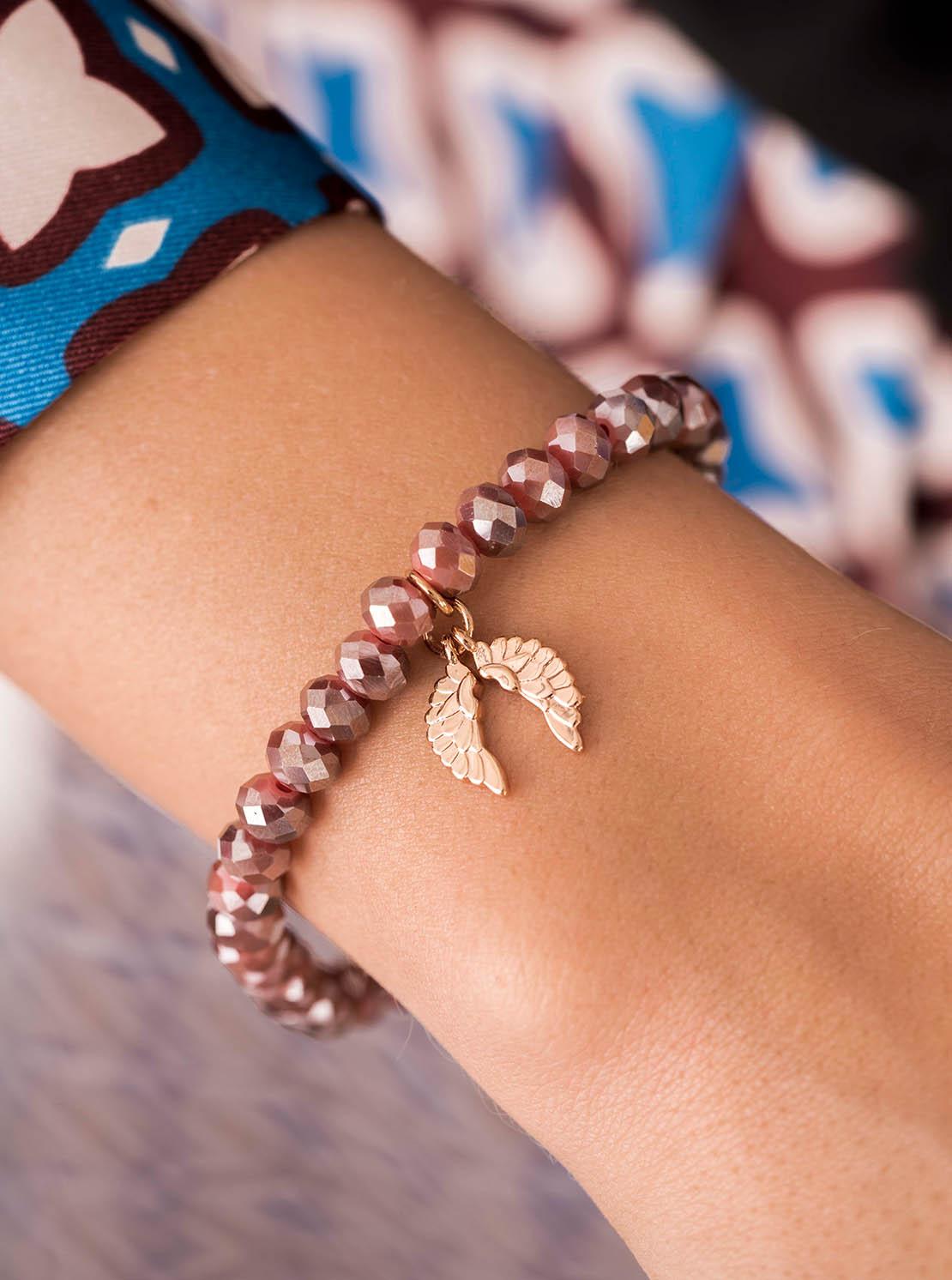 Armband - Merlot Wings