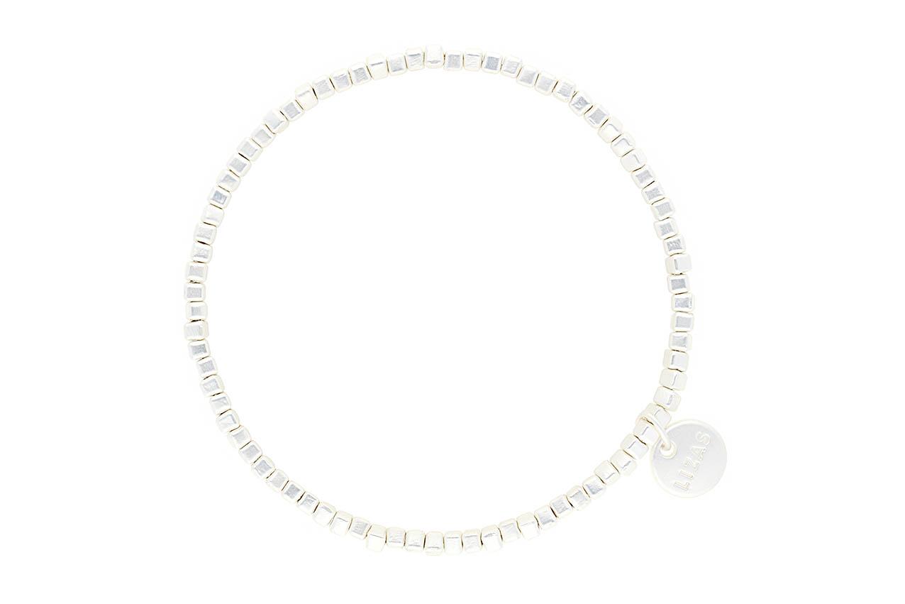 "Armband ""Livingston"" - Minimal Silber"
