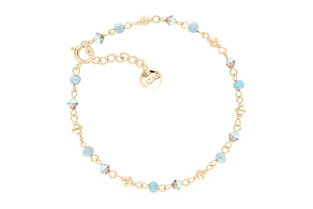 Armband - Blue Beads