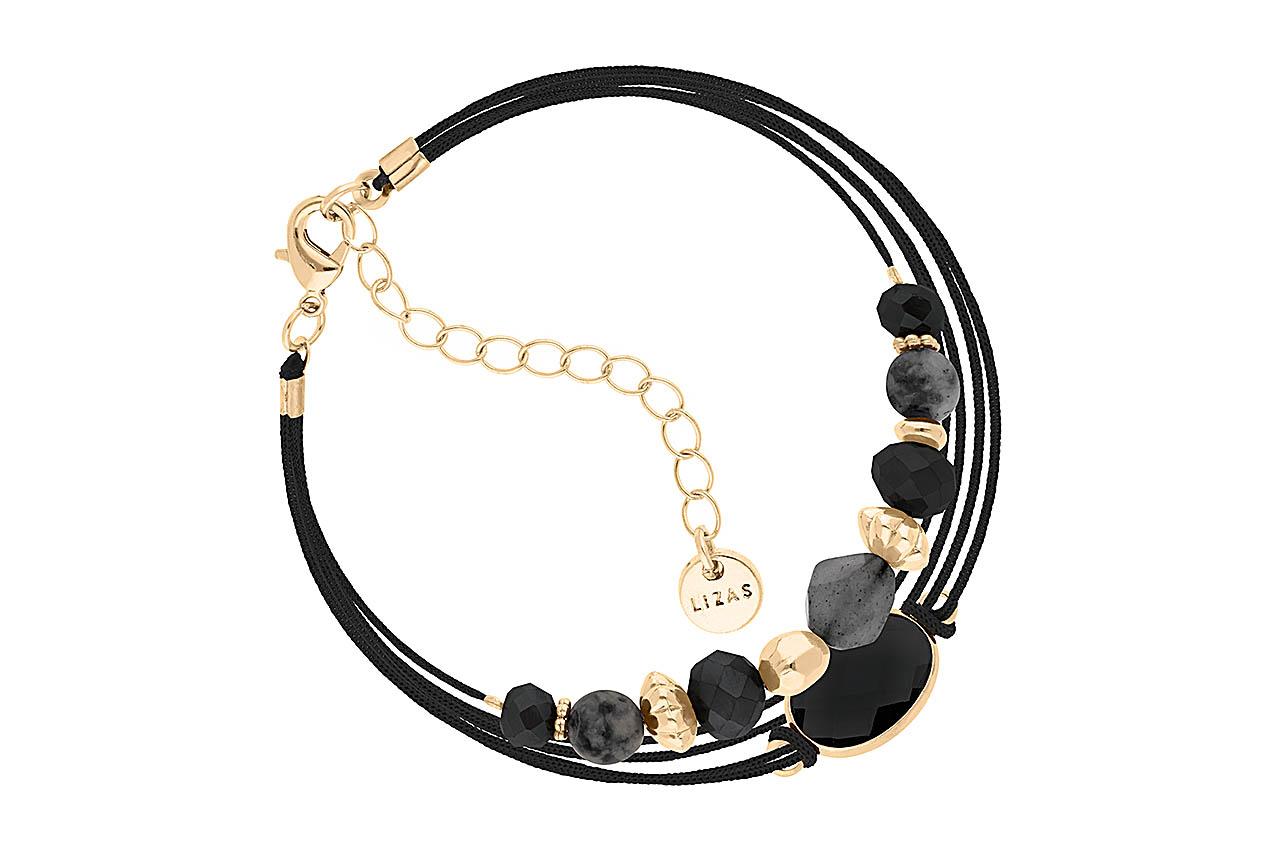 Armband - Chispa Natural Black