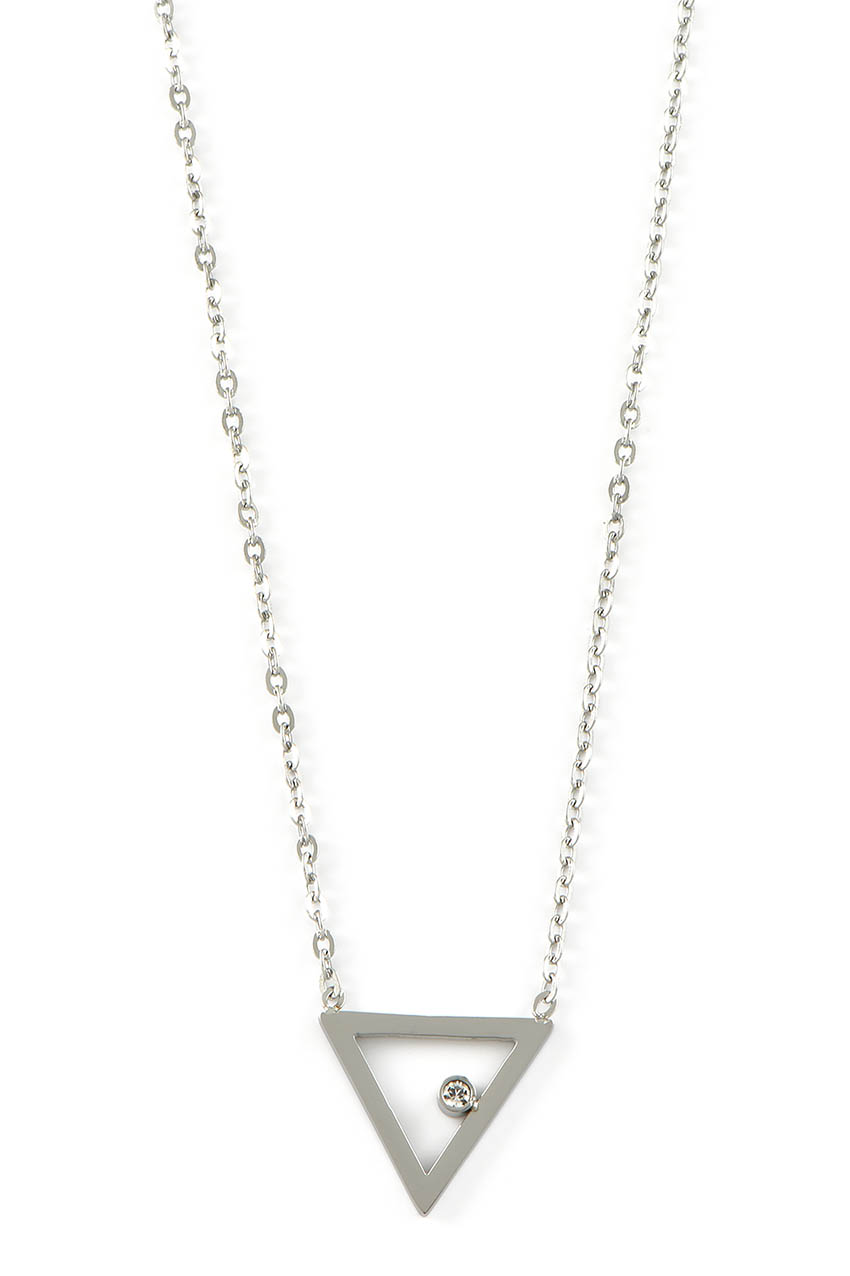 Halskette - Dreieck Silber