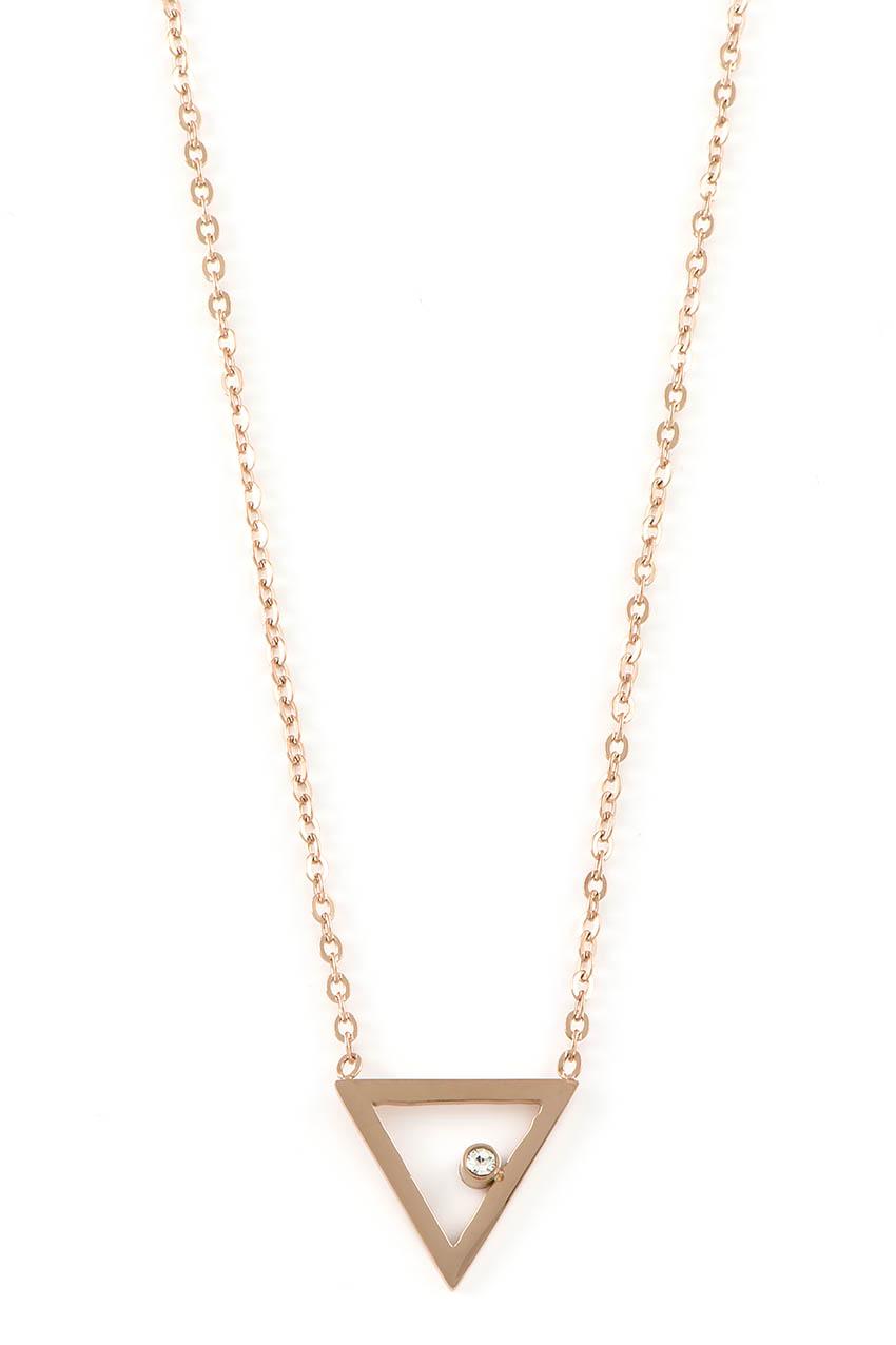 Halskette - Dreieck Rosegold
