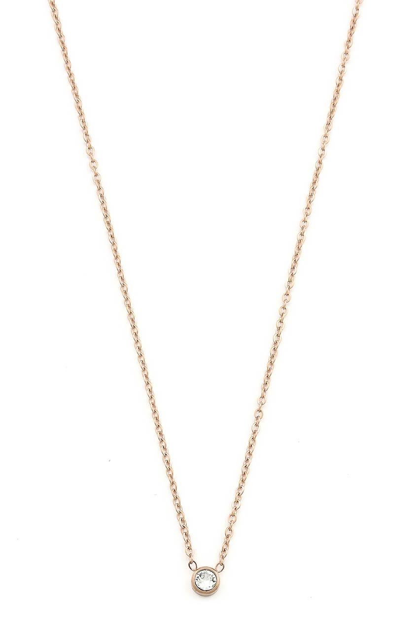 Halskette - Crystal Rosegold