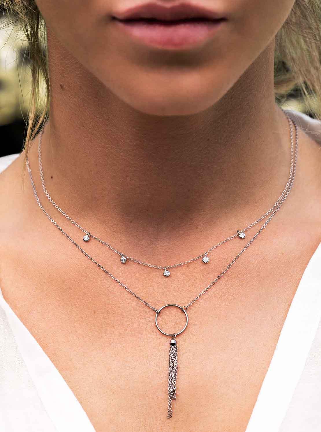 Halskette - Silver Tassel