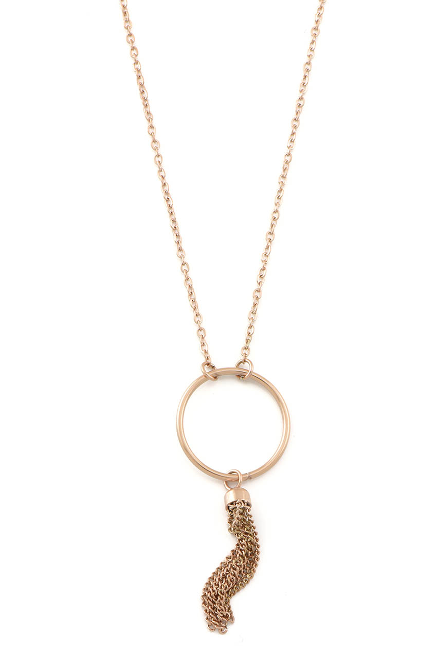 Halskette - Rose Tassel