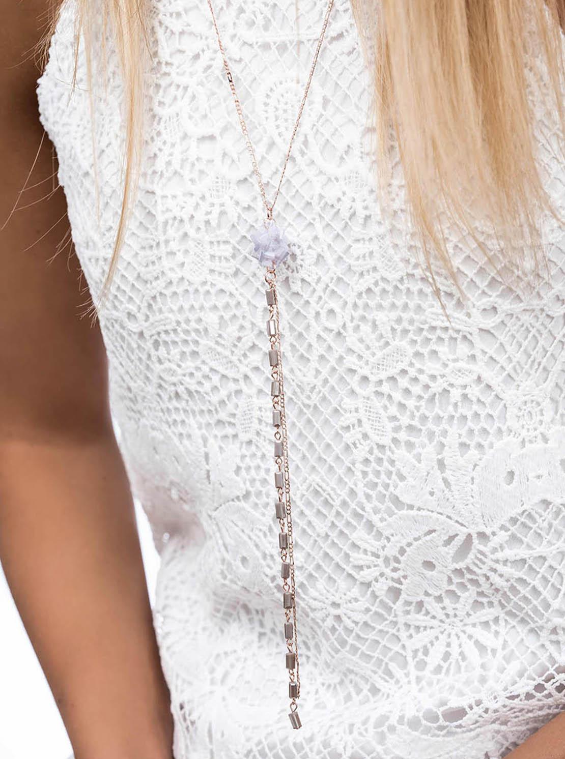 Halskette - Violet Rose