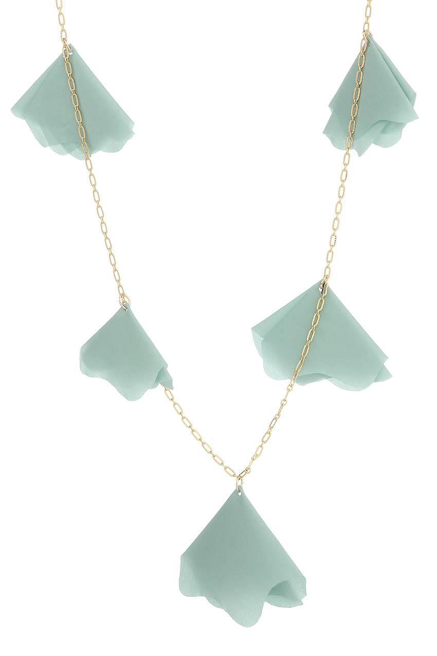 Halskette - Blue Satin