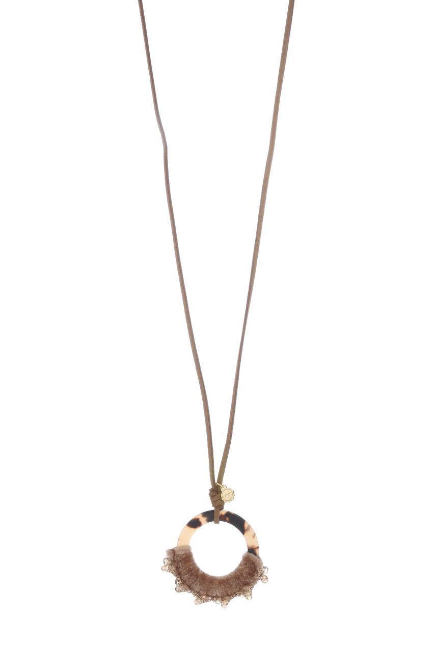 Halskette - Brown Circle