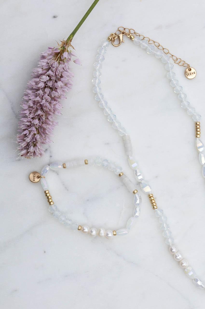 Halskette - Moody White