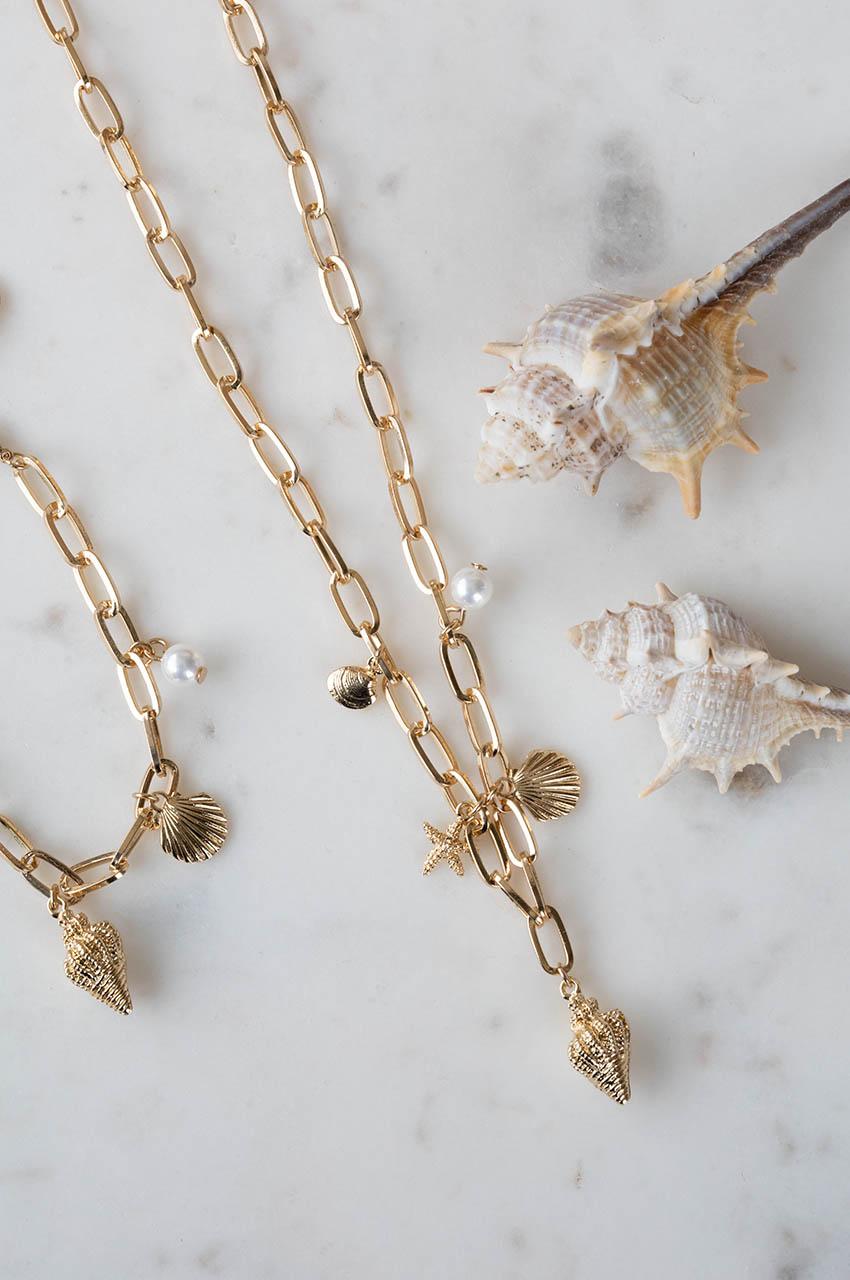 Halskette - Beach Treasures Gold