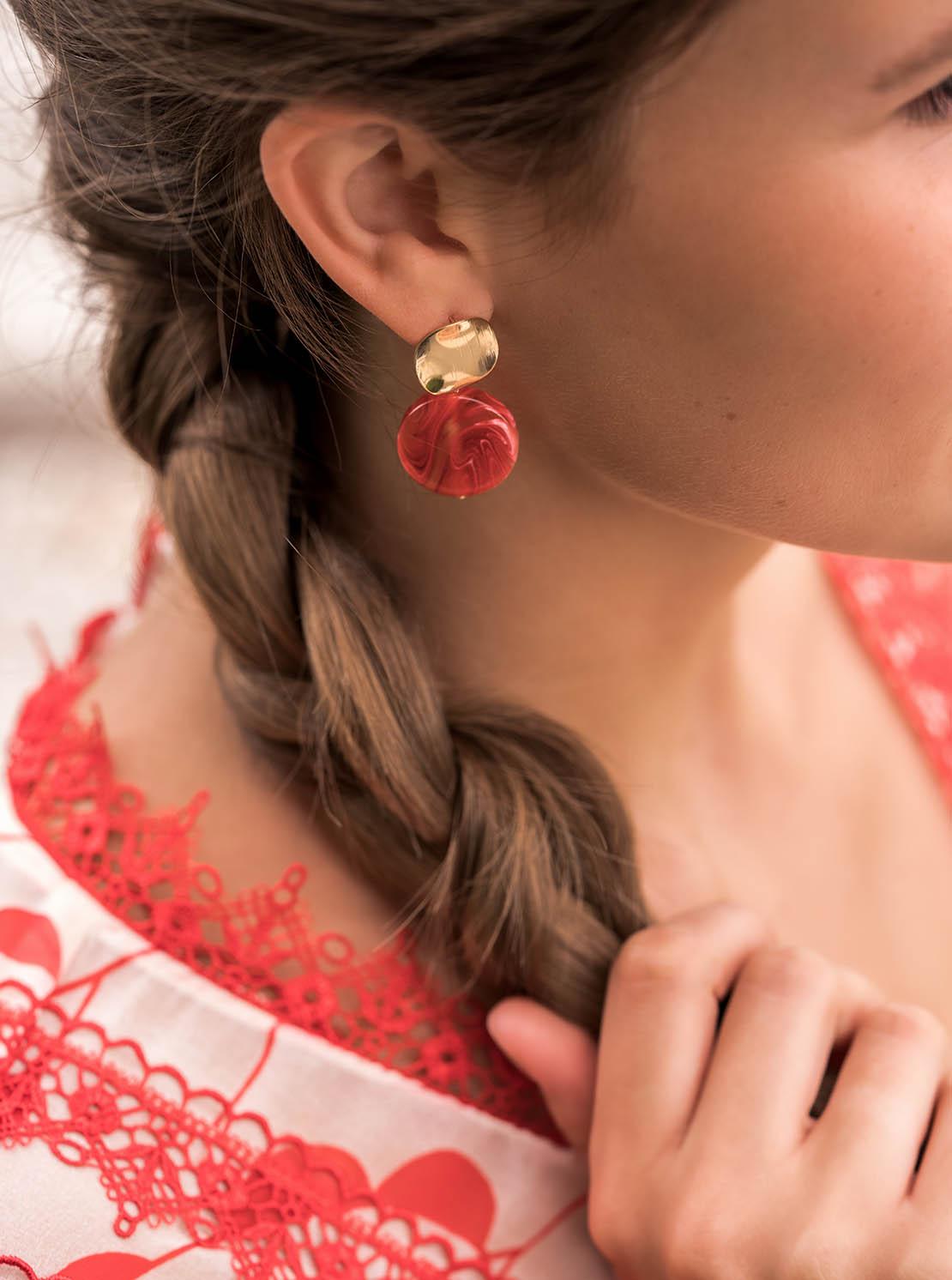 Ohrhänger - Red Drops
