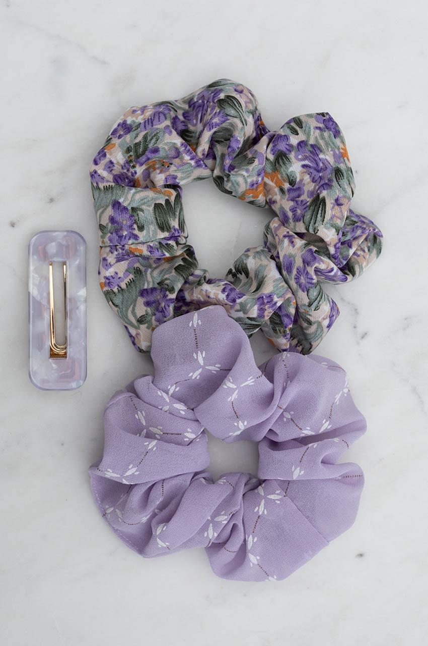 Haargummi - Gently Floral Lilac