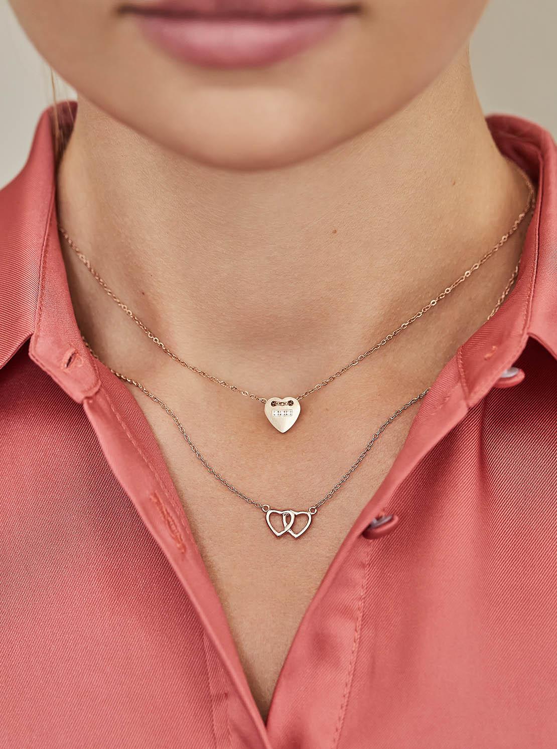 Halskette - Heart Twist