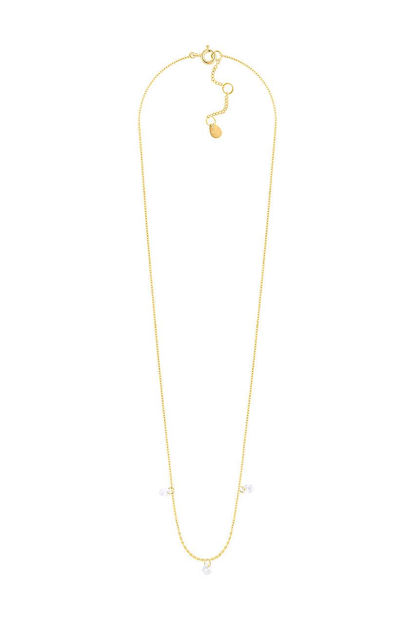 Halskette - Glas Drops Gold