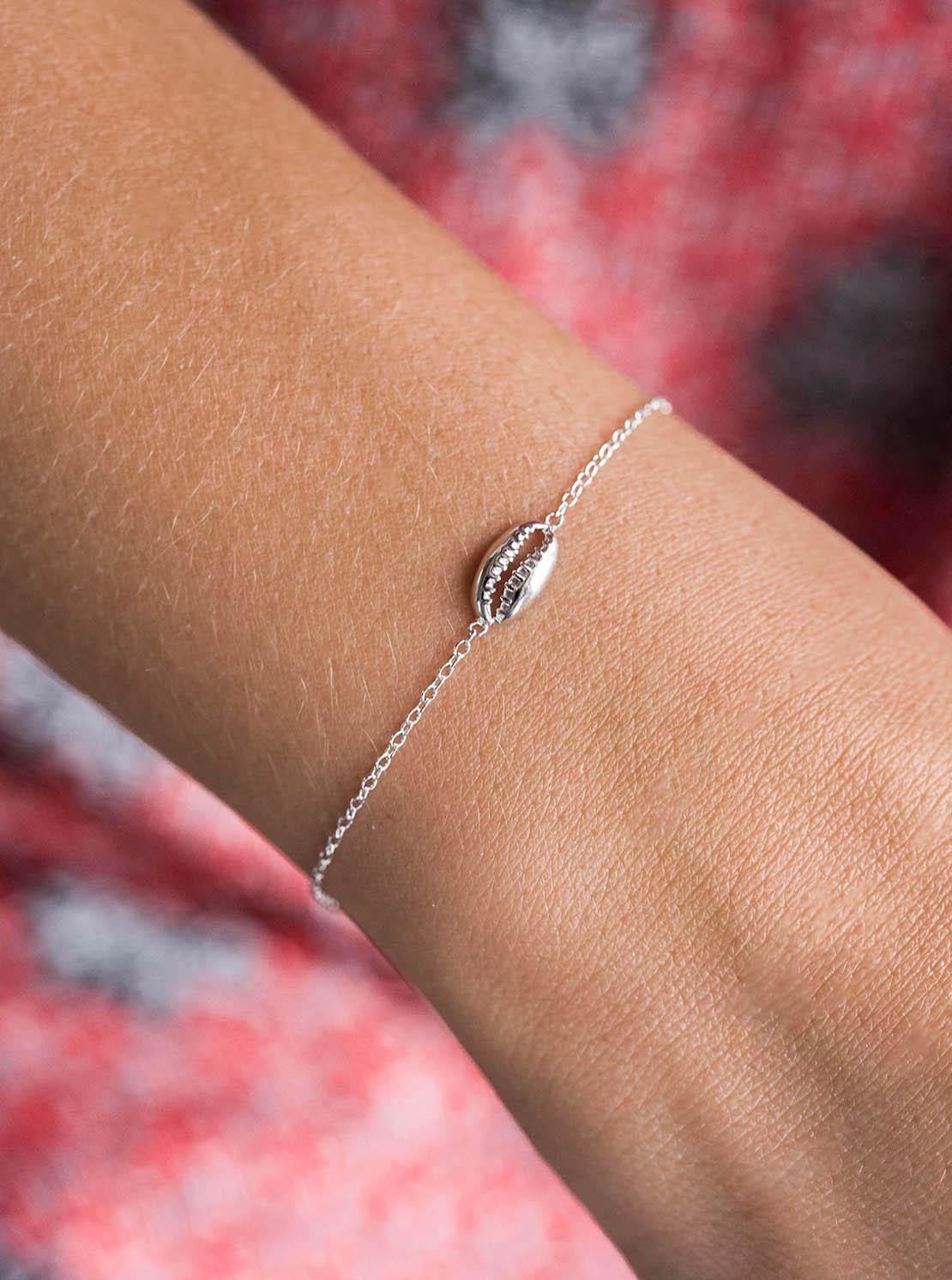 Armband - Silver Kauri Shell