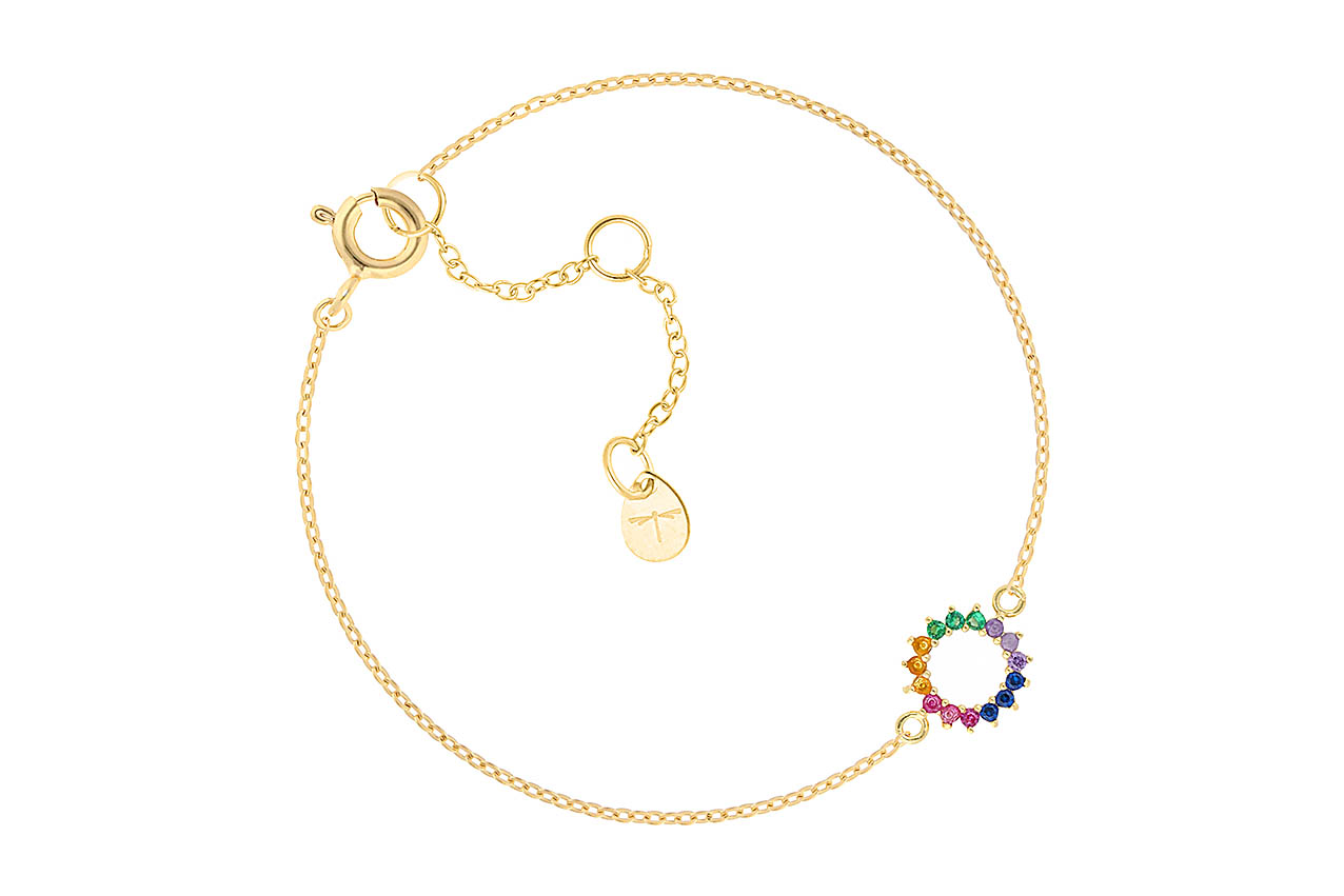 Armband - Color Circle Bracelet Gold