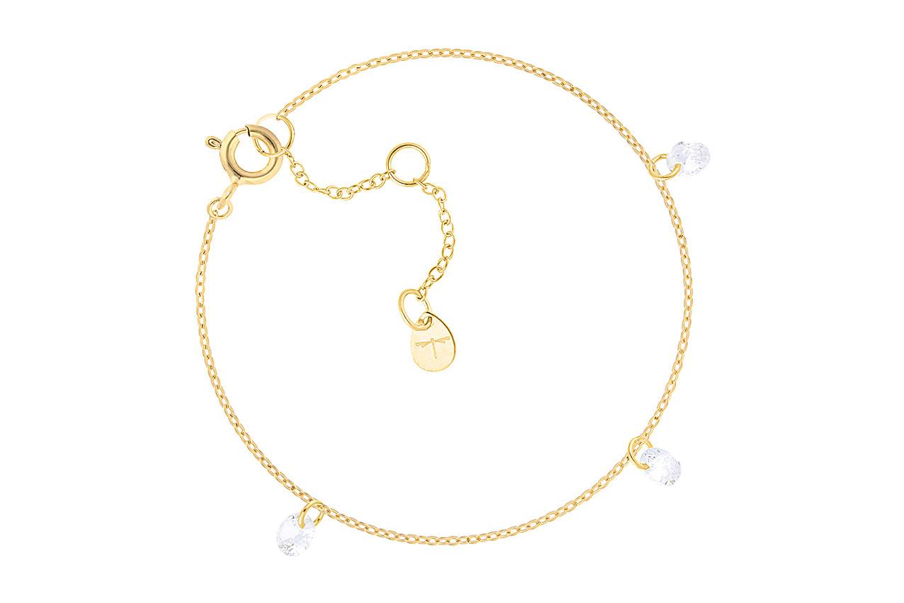 Armband - Glas Drops Bracelet Gold