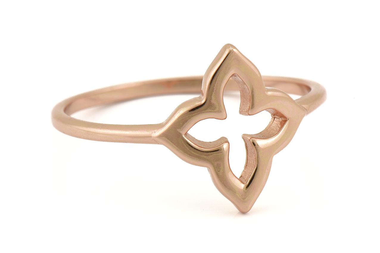 Ring - Classy rosegold Leaf EU52