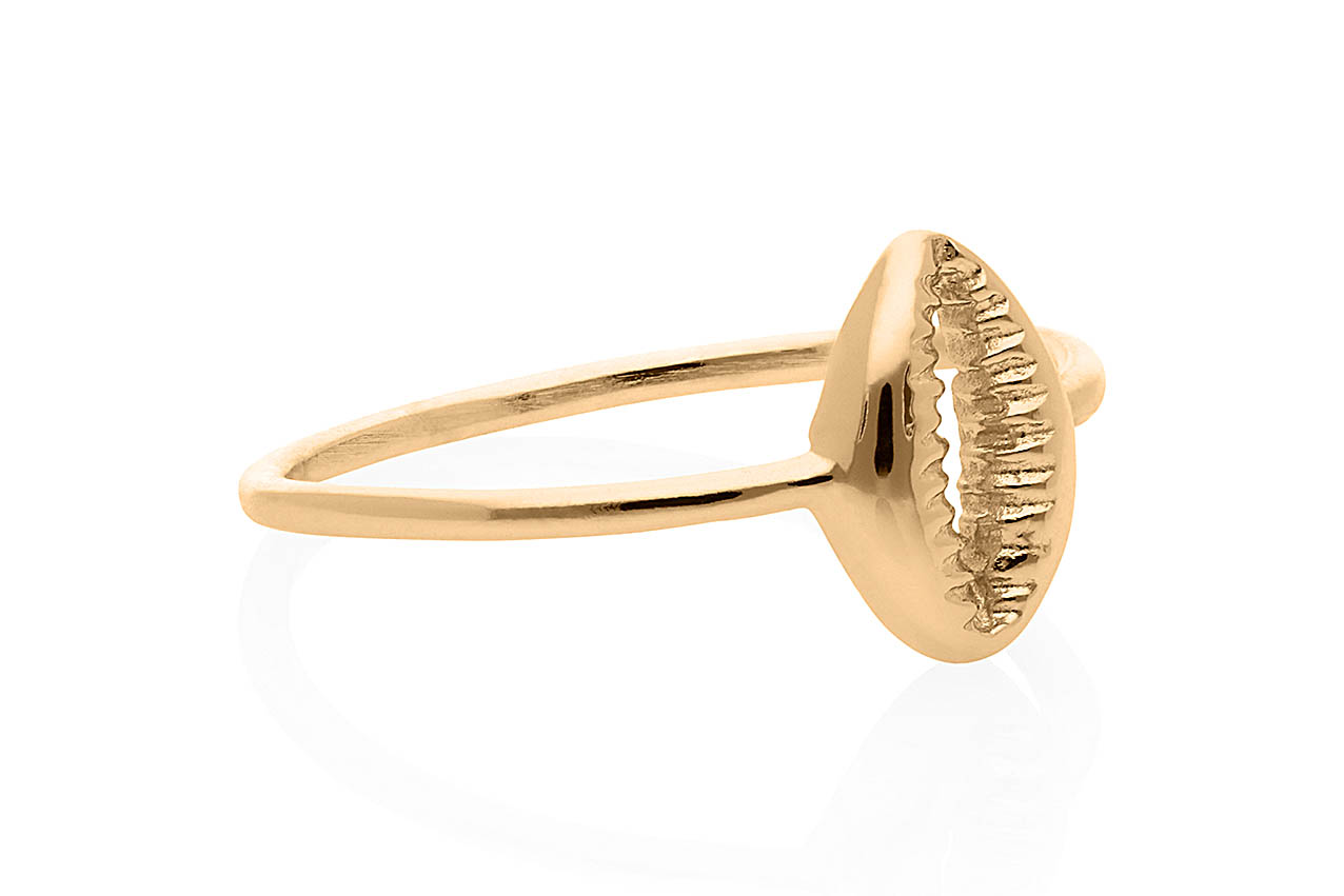 Ring - Fine Shell Gold EU56
