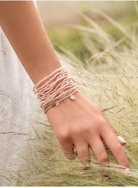 """Armband """"Knoxville"""" - Litschi"""