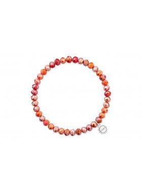 Basic Glasperlen Armband in Rot