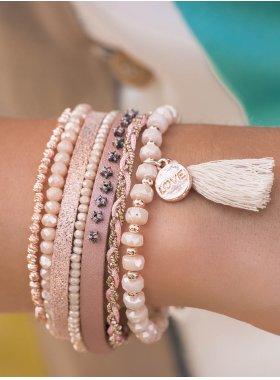 Armband - Nude Tassel