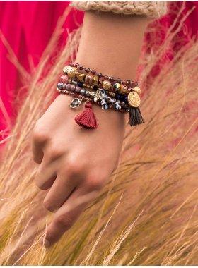 Armband - Merlot Bee